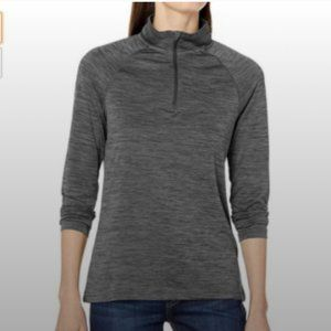 Charles River 1/4 Zip Fitness Pullover Top Size S
